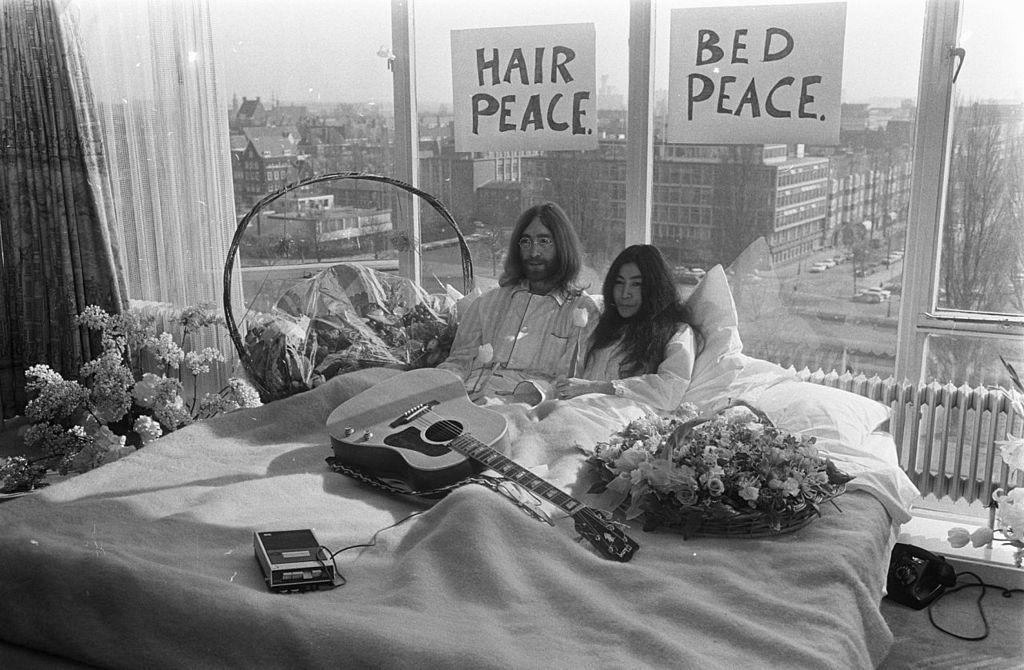 Bed In John Lennon And Yoko John Lennon Yoko Ono John Lennon