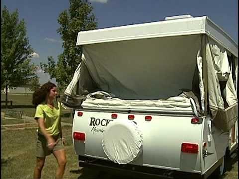 Rockwood Freedom Popup Camper Setup Factory Video Youtube Popup Camper Camper Car Tent