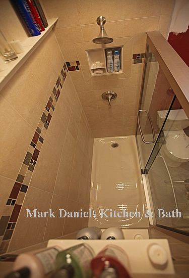 high shower shelf and soap shelf   bathroom tile   Pinterest ...