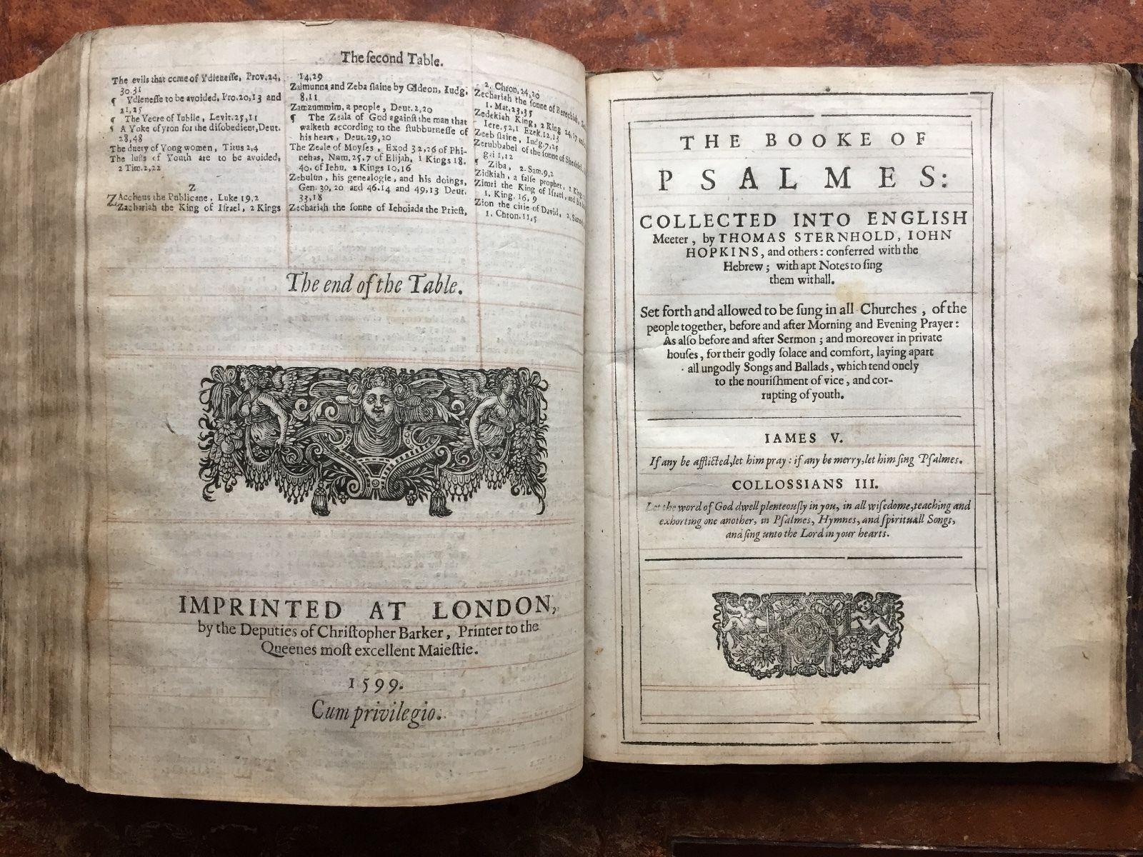 1599 Geneva/Breeches Bible  - Many Pictures Below https://t.co/ld3ZTEwPsd https://t.co/RHqCI9PazL