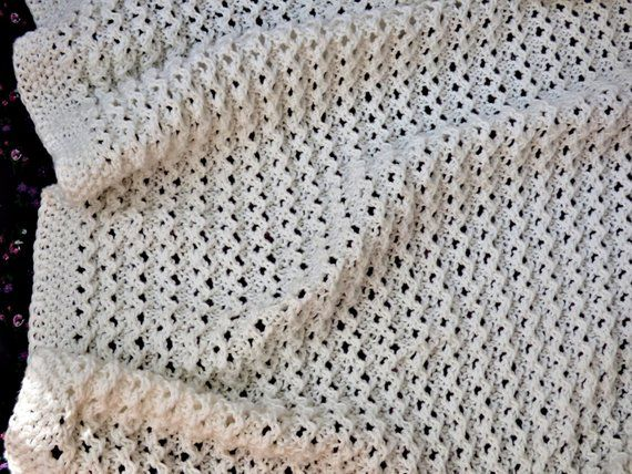Lace Baby Blanket Knitting Pattern Sizes 24x26 Inch 60x65 Cm And