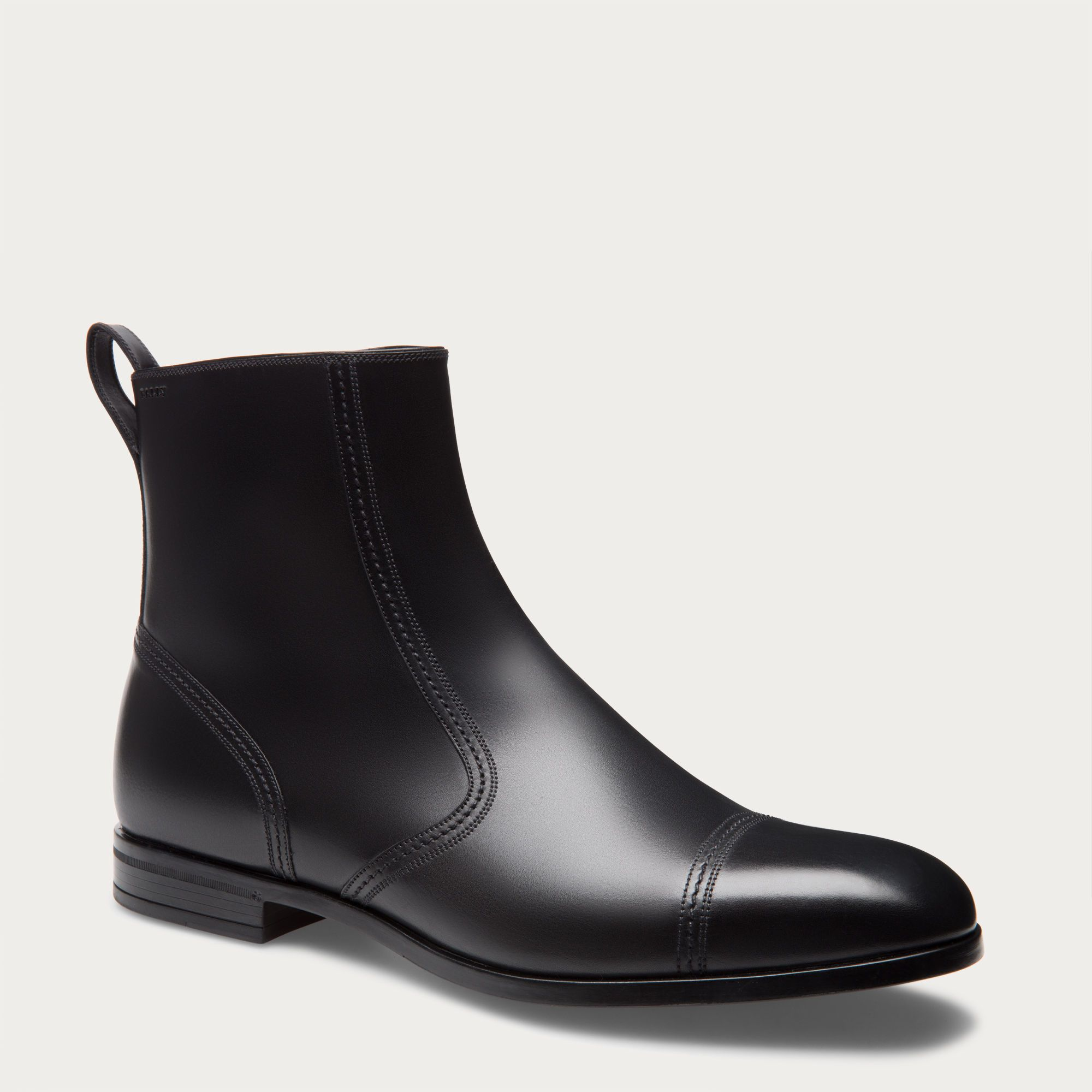 Shop the Landro boot from Bally. A refined leather ankle boot with subtle  decorative stitching.