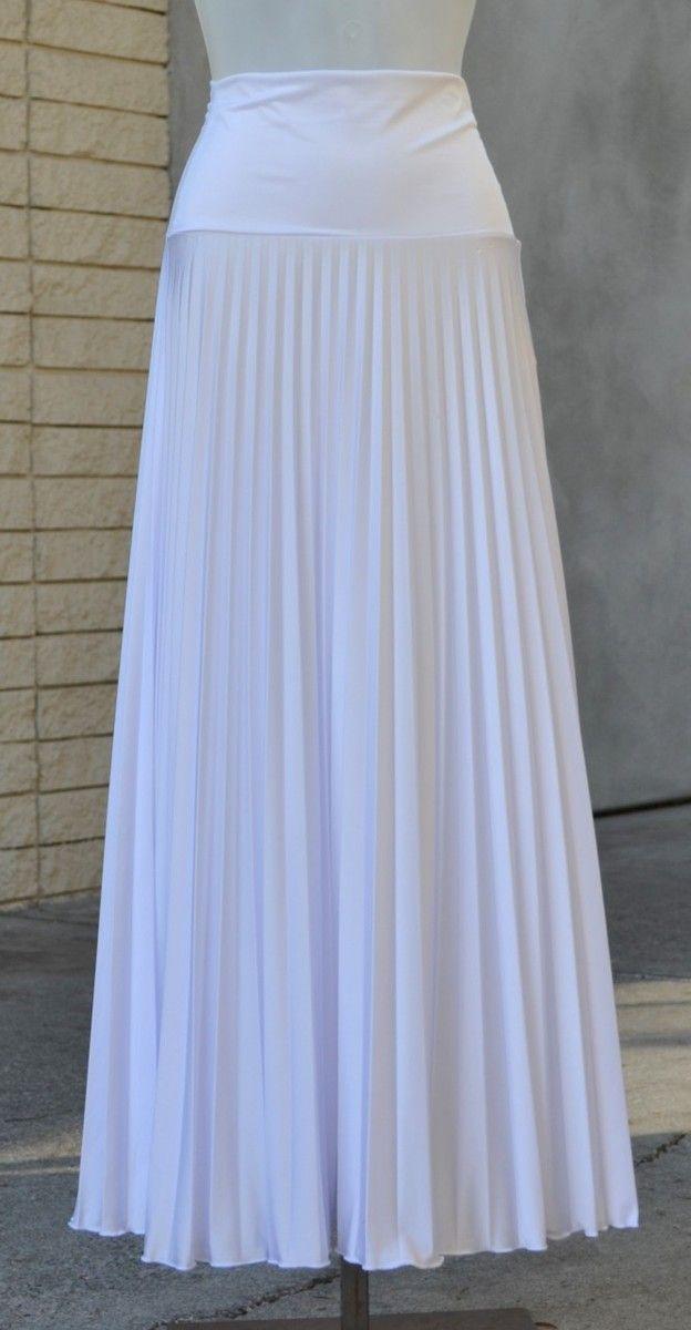 13b879e659 WHITE Pleated Maxi Skirts | Maxi Skirts | White maxi skirts, Long ...