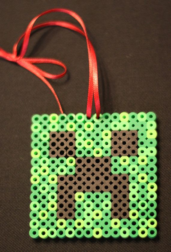 Minecraft Creeper Ornament perler beads by TheMightyBeads