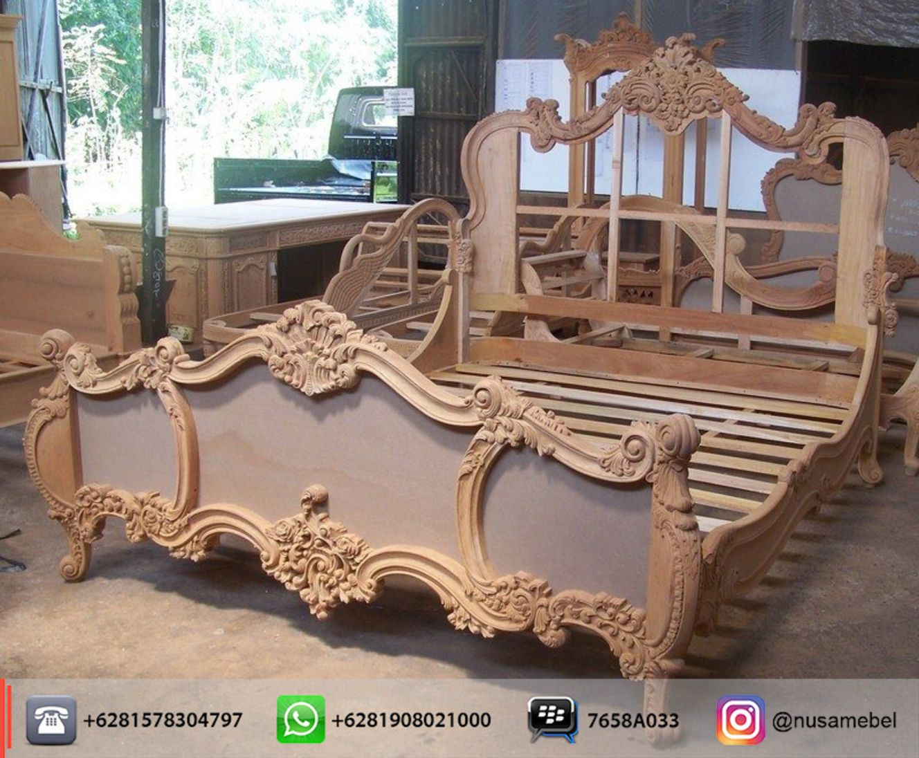 Mahogany Rococobed Style In King Size Azzura We Send It