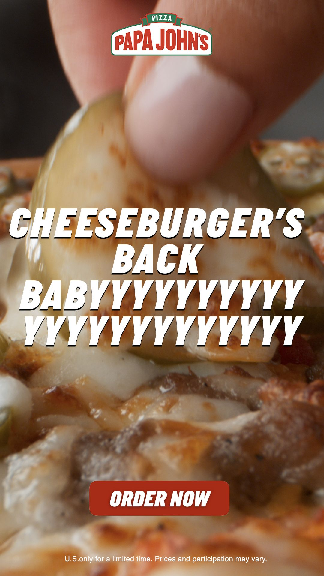 The Return Of Double Cheeseburger Pizza Papa Johns Pizza Food Pictures Food