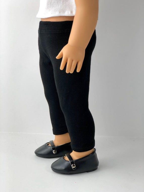 18 Inch Doll Clothes | Solid Black Cropped Knit LEGGINGS | PANTS for 18 Inch Dolls #18inchdollsandclothes