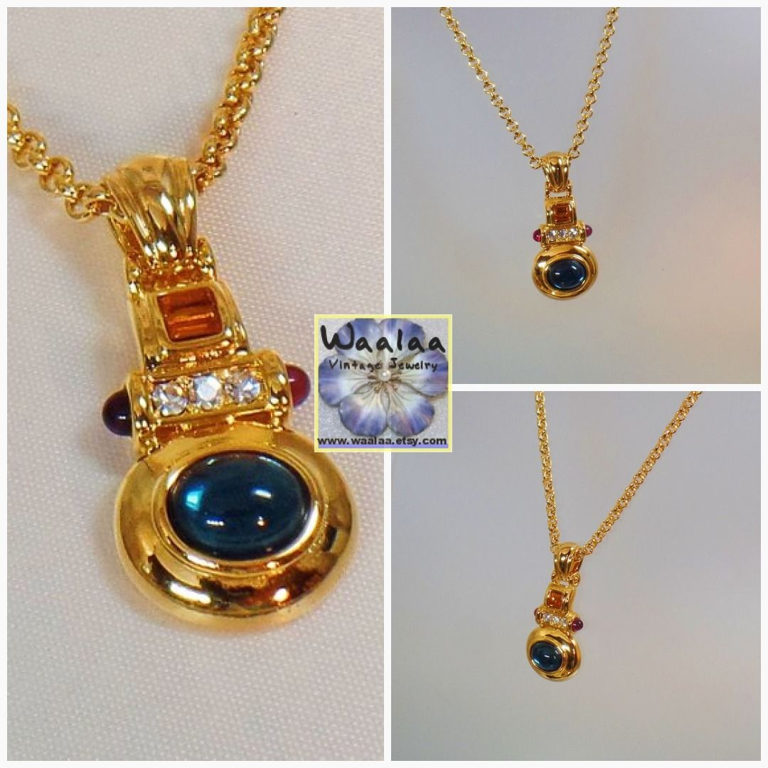 b1202e51eecd1 Nolan Miller Necklace. Vintage Necklace. Enhancers. Rhinestone ...