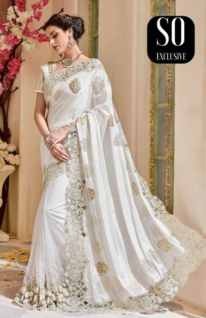 Sari Haute Couture Mariage Blanc Noorjehan Mariages En