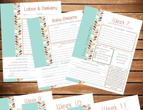 Baby Shower Checklist Pdf ~ Pregnancy planner maternity pringable pregnancy journal baby
