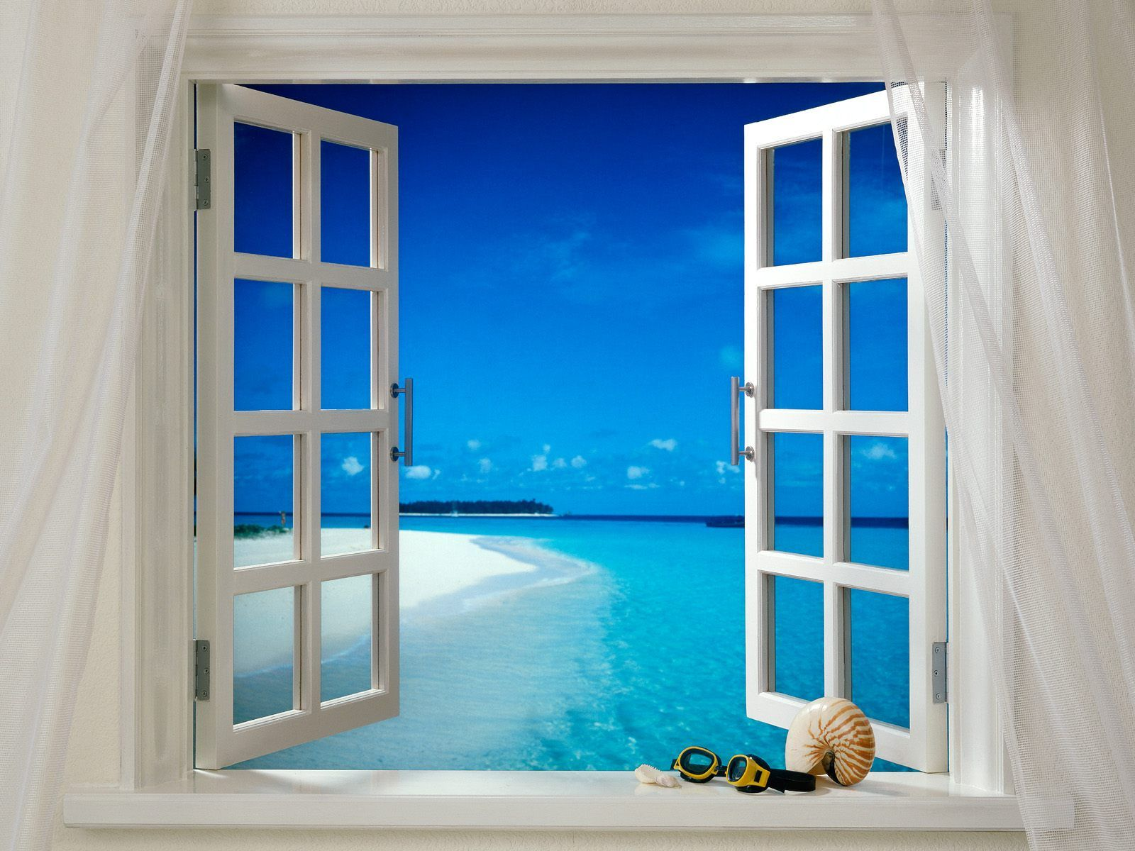 Open window beach - Beach Beckoning Through Open Window This Is The Picture I Am Looking For For My Bedroom