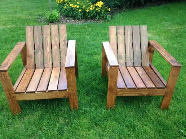 Modern Wood Chair Plans Wrought Iron Foot Pads Outdoor Lounge Stained Slats Westelm Industrial Rustic Style Diy Free By Ana White Com