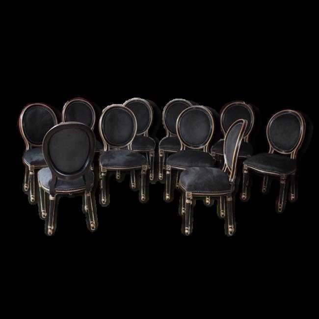 Lot 6 Chaise Medaillon Noir Vendu Par Sarl Deco Tessy Nayar Buzancais 36 Indre Hauteur 101 Largeur 50 Profonde Deco Vintage Mobilier De Salon Deco