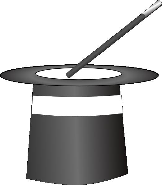 Black & White Magic Hat Clip Art at Clker.com - vector ...