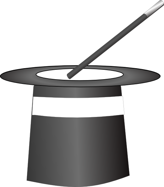 Vector Clip Art Online Royalty Free Public Domain Clip Art Clipart Black And White Magic Hat