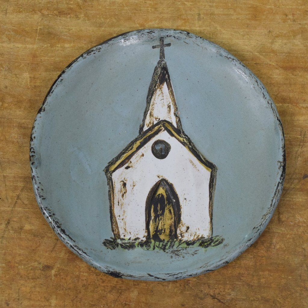 Church Plate Peaceful in 2019 Christmas ornaments