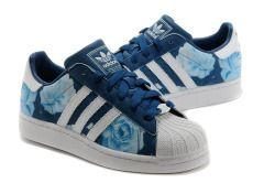 Adidas Superstar Flower Blue | Sapatos