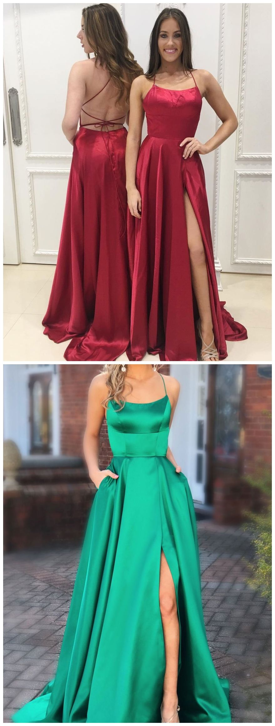 Backless prom dressesburgundy prom dresses green prom dresses