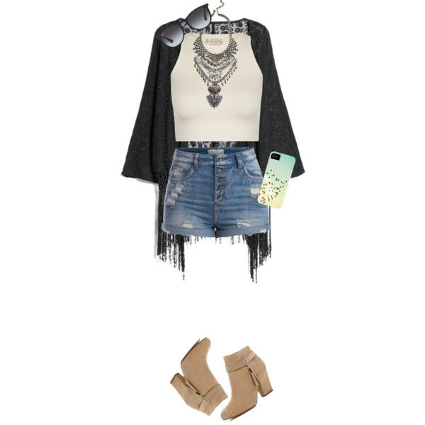 Silver Coachella by soccer-monster on Polyvore featuring polyvore, fashion, style, Free People, MANGO, Pieces, River Island and Ray-Ban
