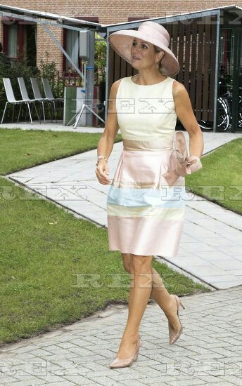 Opening of the Papageno Huis, Laren, Netherlands - 26 Aug 2015  Queen Maxima 26 Aug 2015