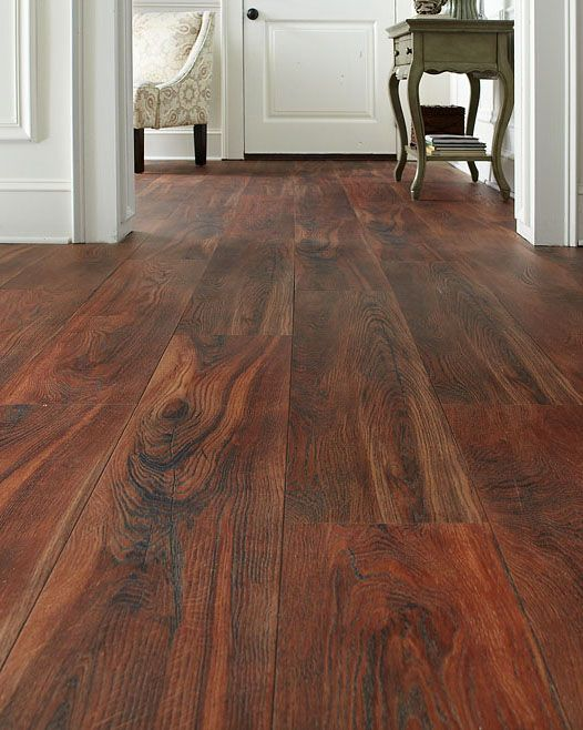 Trafficmaster allure ultra wide 8 7 in x 47 6 in red for Wide plank wood flooring