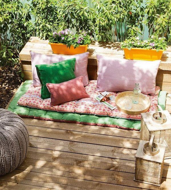 Ideas coloridas para decorar exteriores Patios
