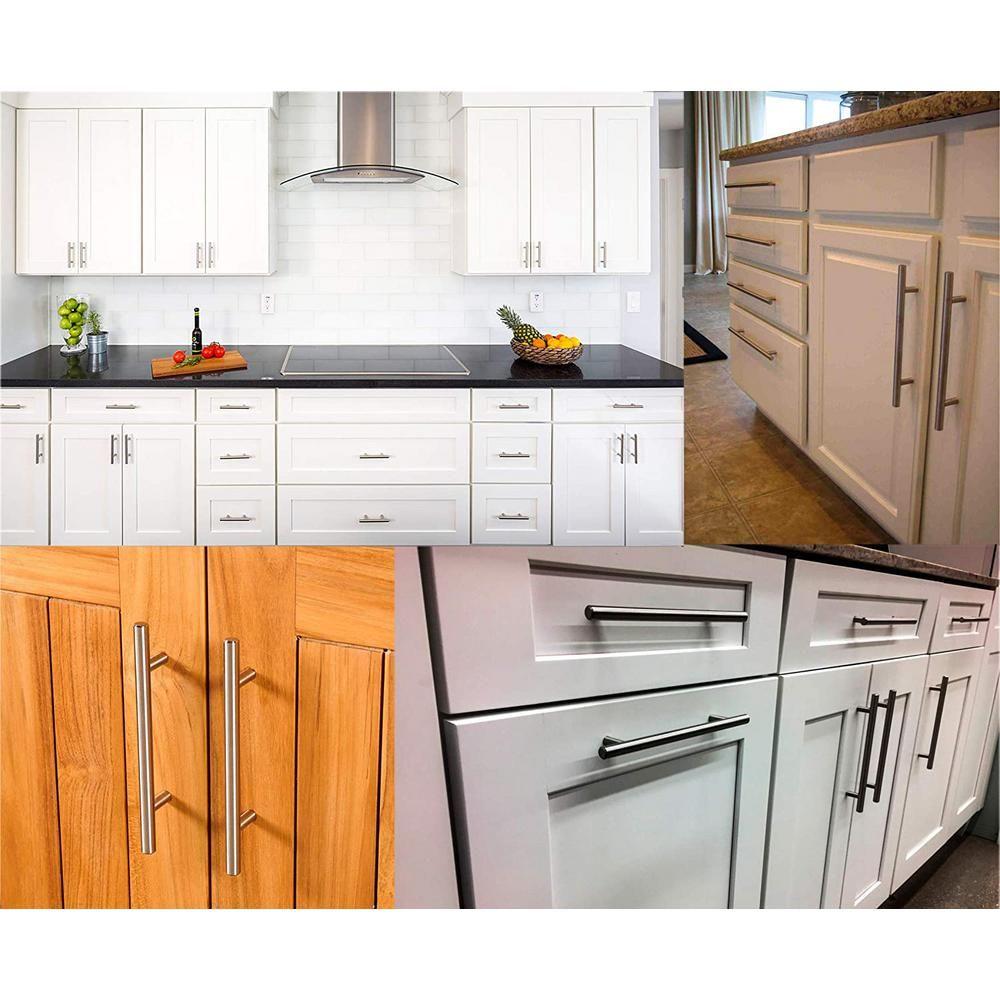 5 In Center To Center Brushed Nickel Kitchen Cabinet Door T Bar Handles Drawer Pulls 25 Pack Hndl 5 25 In 2020 Kitchen Cabinet Doors Kitchen Cabinets Cabinet Doors