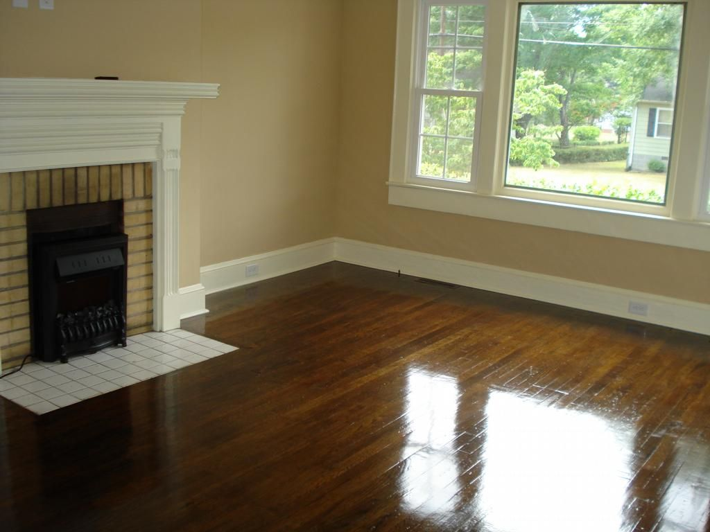 Painted Hardwood Floor with Wood Trim - Painted Hardwood Floor With Wood Trim DIY Flooring Pinterest