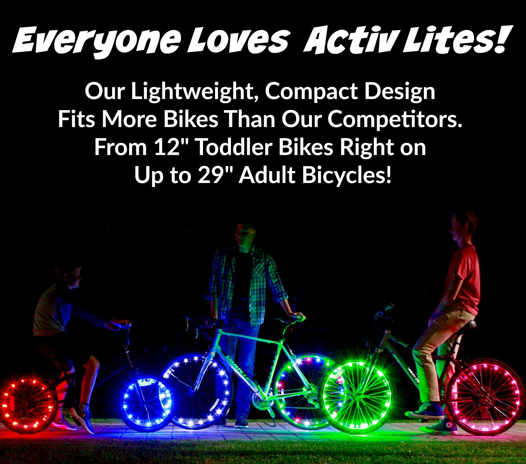 Activ Life Bicycle Tire Lights 1 Wheel Red Hot Led Bday Gift Ideas