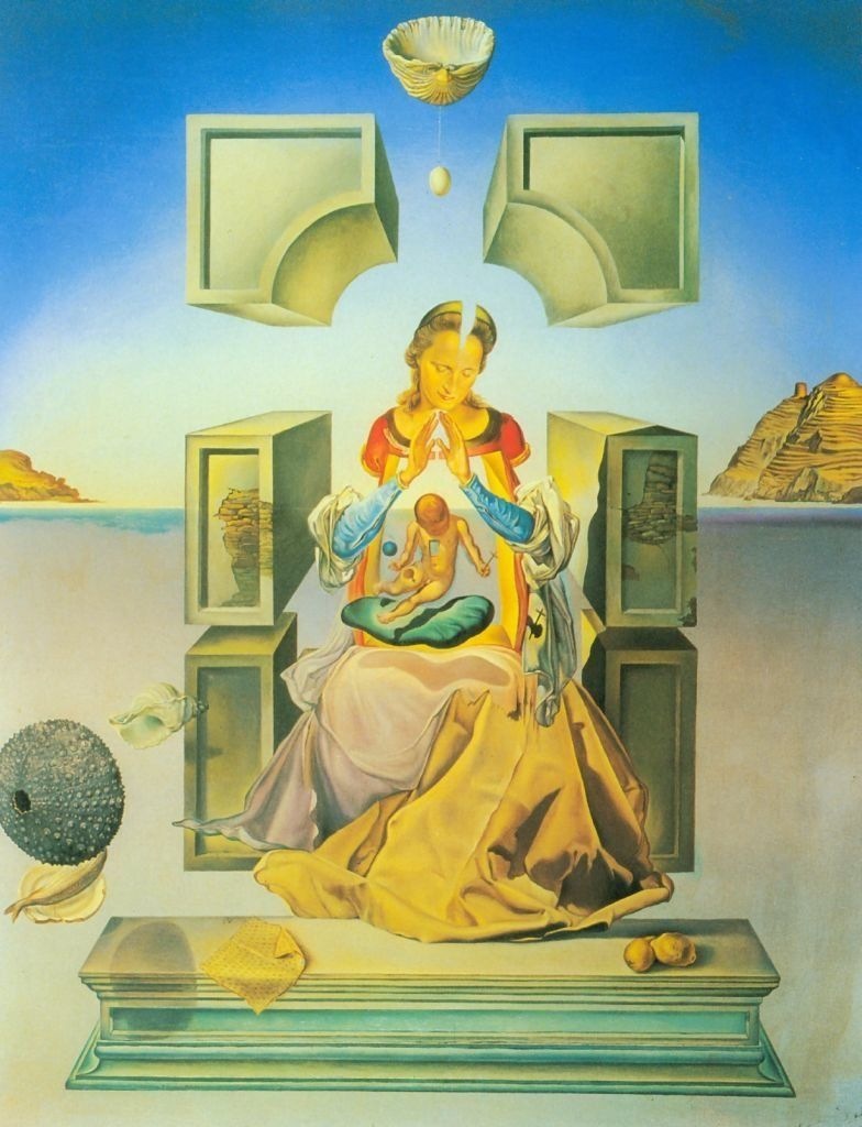 Obra De Arte Surrealista Salvador Dali Salvador Dali The Madonna Of Port Light First Version