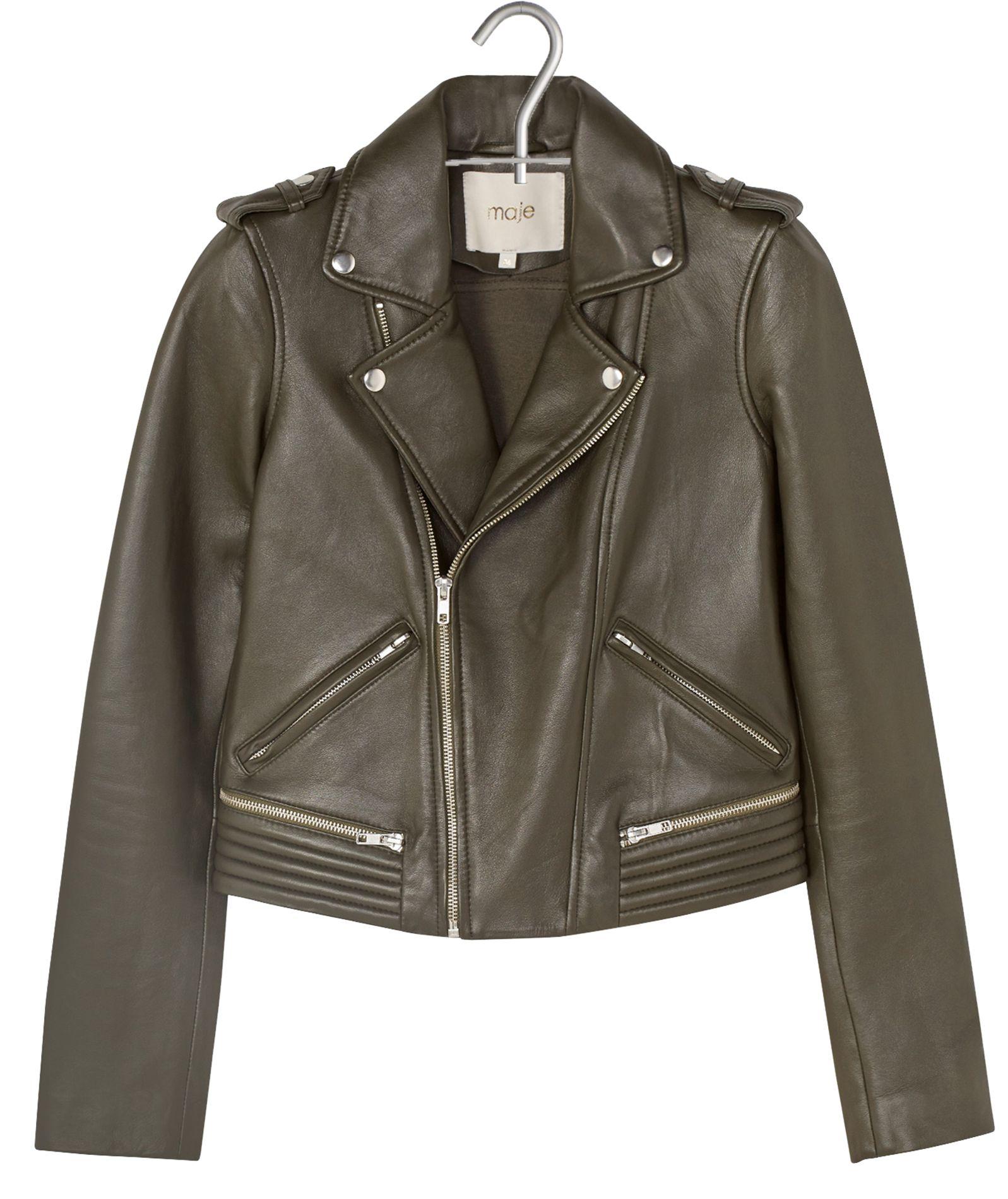 veste en cuir vert kaki femme les vestes la mode sont populaires partout dans le monde. Black Bedroom Furniture Sets. Home Design Ideas