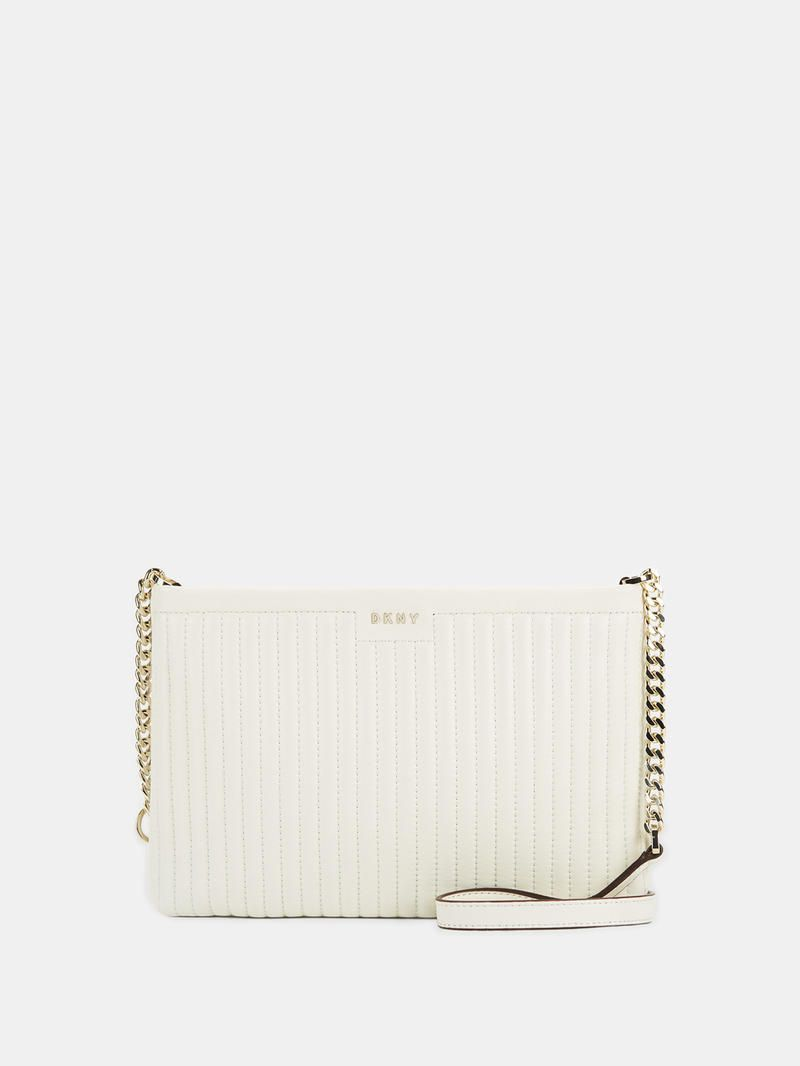 DKNY Quilted Lamb Nappa Pinstripe Crossbody. #dkny #bags #shoulder bags #leather #crossbody #