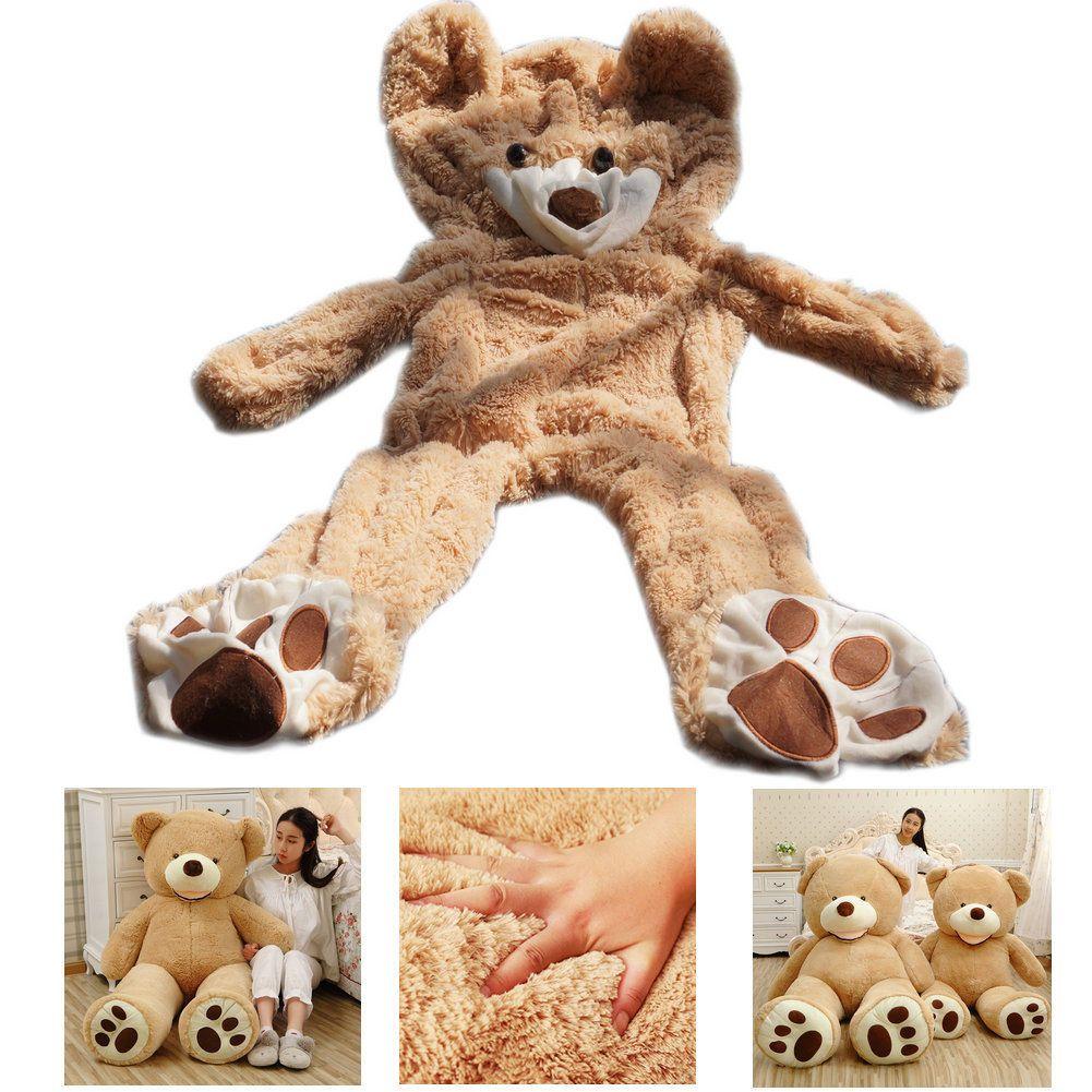 NEW GIANT 63 INCH BIG PLUSH LIGHT BROWN TEDDY BEAR HUGE SOFT TOY BIRTHDAY GIFT