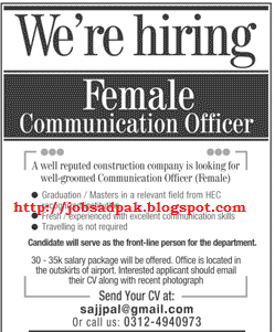 Daily Job advertisement in newspapers: Female Communication ...