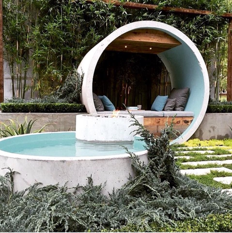 Outdoor Home Concrete Pool And Sitting Area Art Of Texture Pinterest Concrete Pool