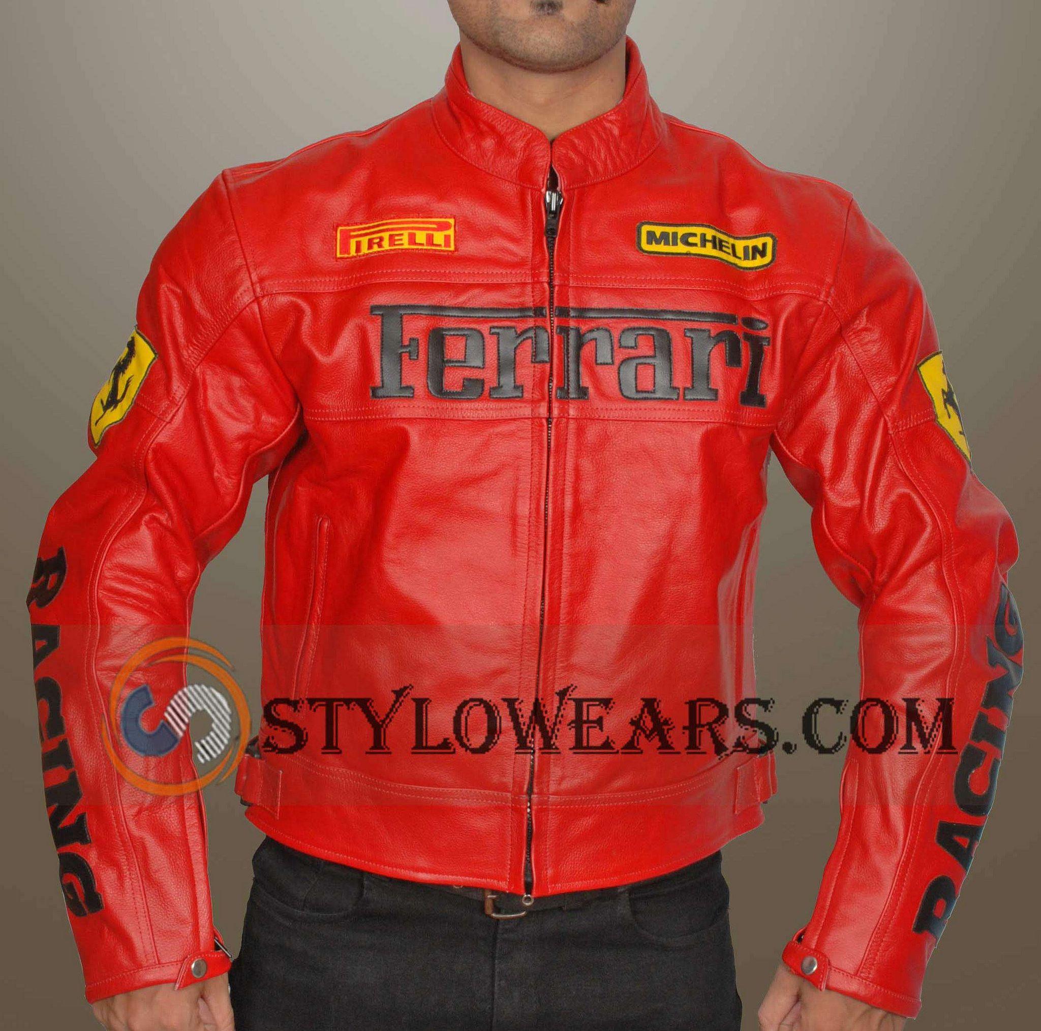 Red Ferrari Leather Jacket Leather Jacket Men Leather Jacket Style Jackets