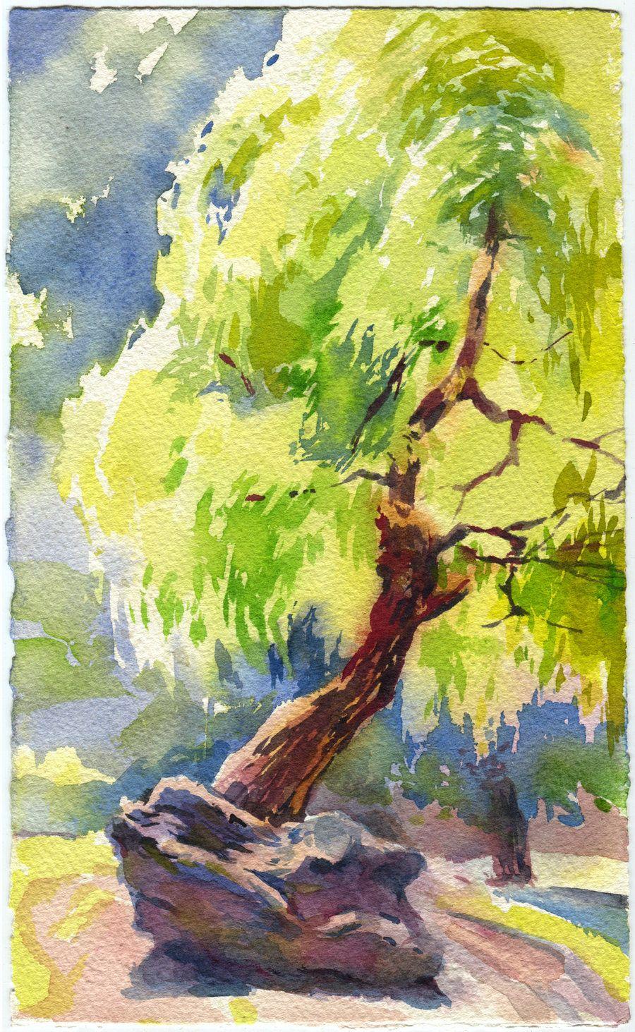 Weeping willow by OlgaSternik | painting ideas | Pinterest ...