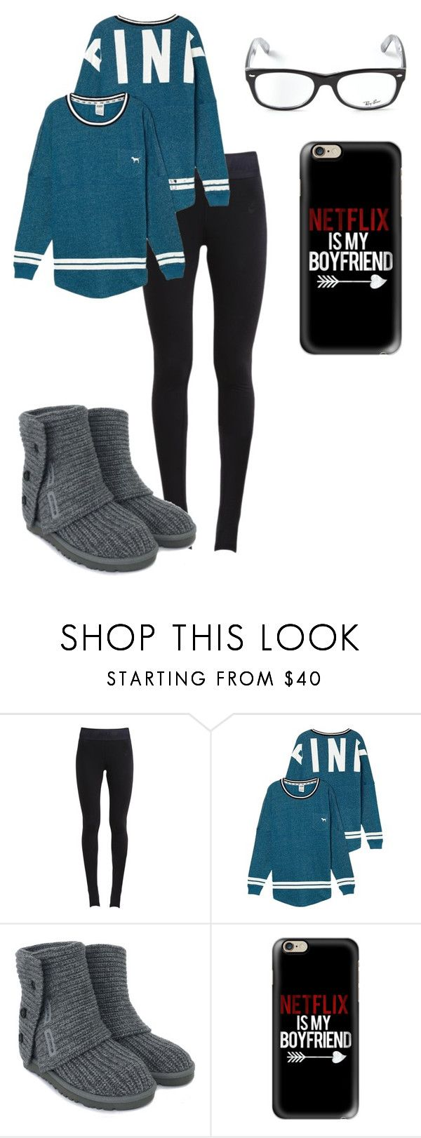 """outfit #822"" by mbvs ❤ liked on Polyvore featuring NIKE, UGG Australia, Casetify and Ray-Ban"