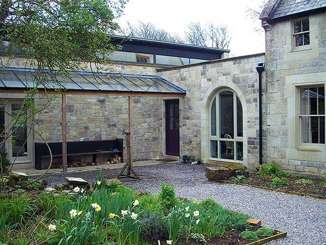 stone extension with zinc roof - Google Search