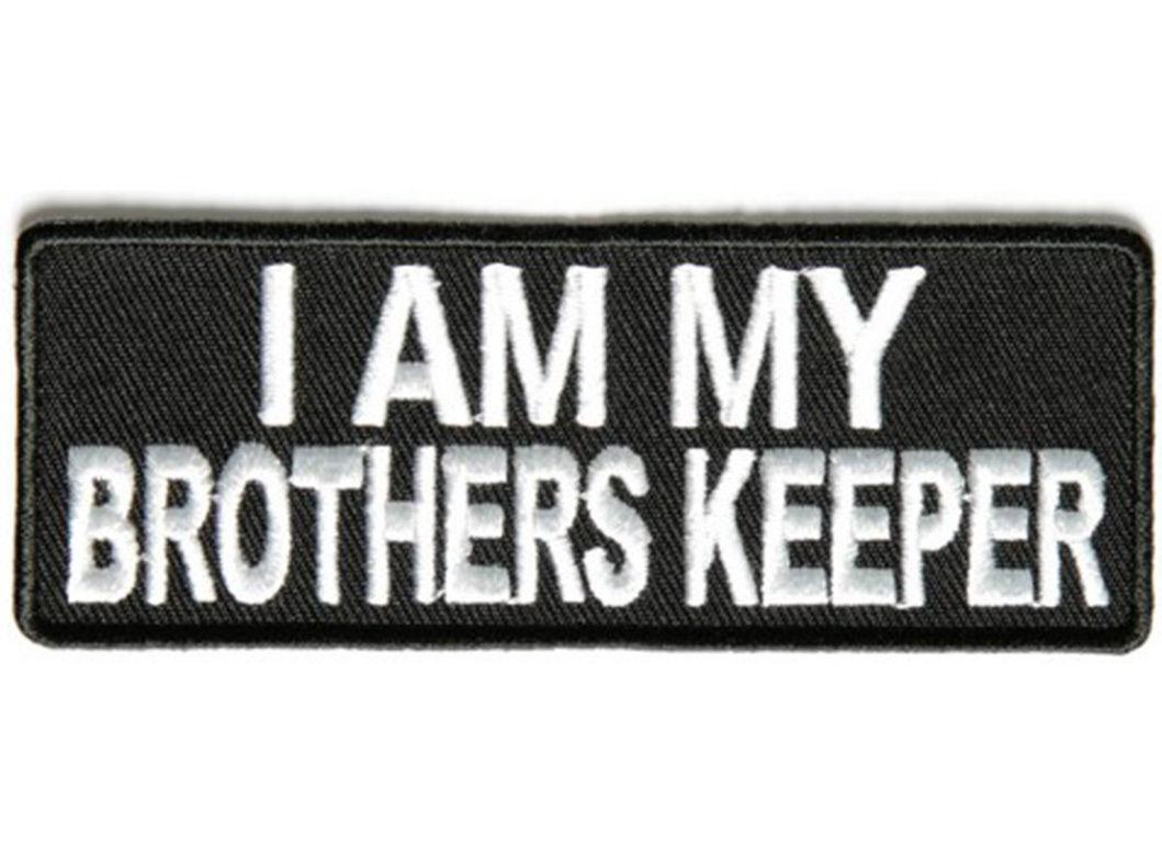5 95 I Am My Brothers Keeper Embroidered Jacket Vest Patch Funny Saying Biker Emblem Ebay Colle I Am My Brothers Keeper My Brothers Keeper Brothers Keeper