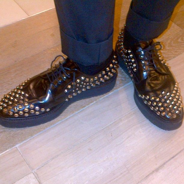 Rock n roll #Prada #wingtips! Definitely meant to be noticed!