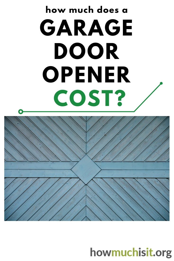 How Much Does It Cost To Have A New Garage Door Opener Installed