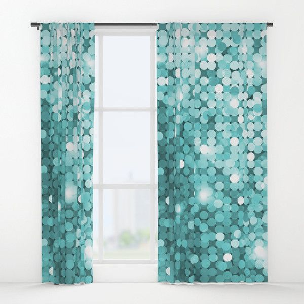 Mermaid Glitter Window Curtains 80 Liked On Polyvore Featuring Home Decor