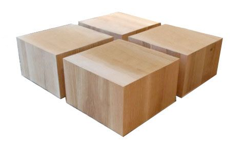 """Oak Cubes 24""""W x 24""""D x 15""""H by Kathleen Clements Design"""