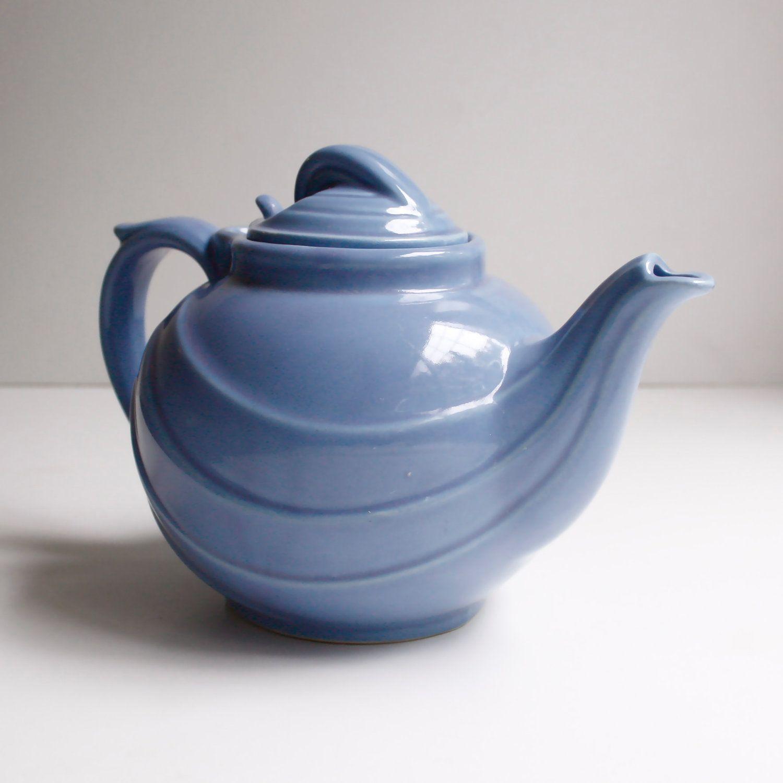 vintage teapots | Vintage Hall Teapot Hyacinth Blue by KitchenTableVintage on Etsy
