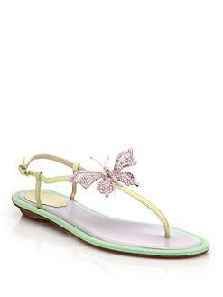 for sale René Caovilla Rene Caovilla Butterfly Embellished Sandals quality original buy cheap sneakernews professional sale online KTL63JERmB