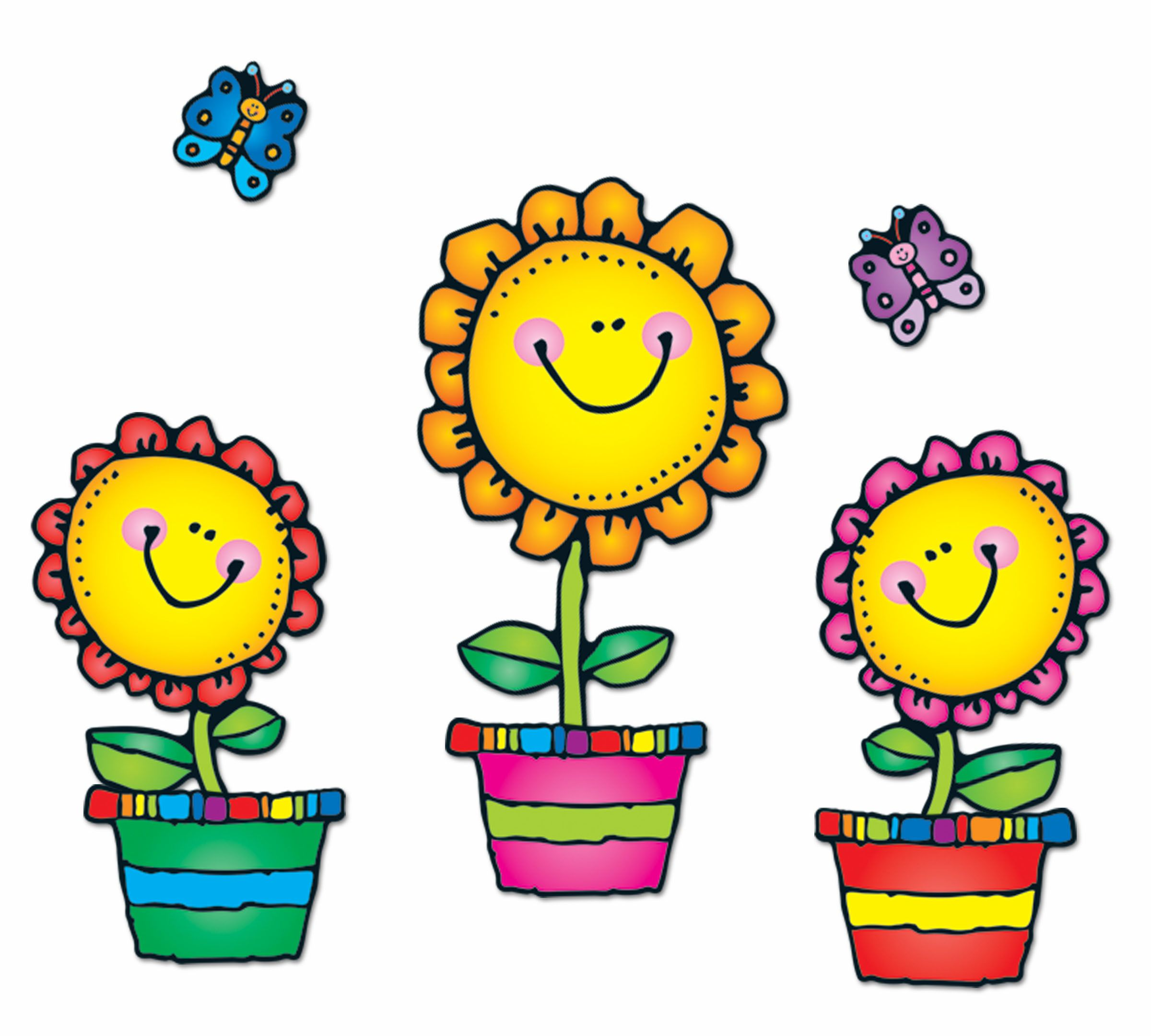 medium resolution of the blooming flowers bulletin board set is a fun cheerful way to welcome in spring