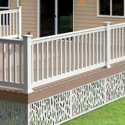Best Freedom Assembled 8 Ft X 3 Ft Lincoln White Pvc Deck 400 x 300