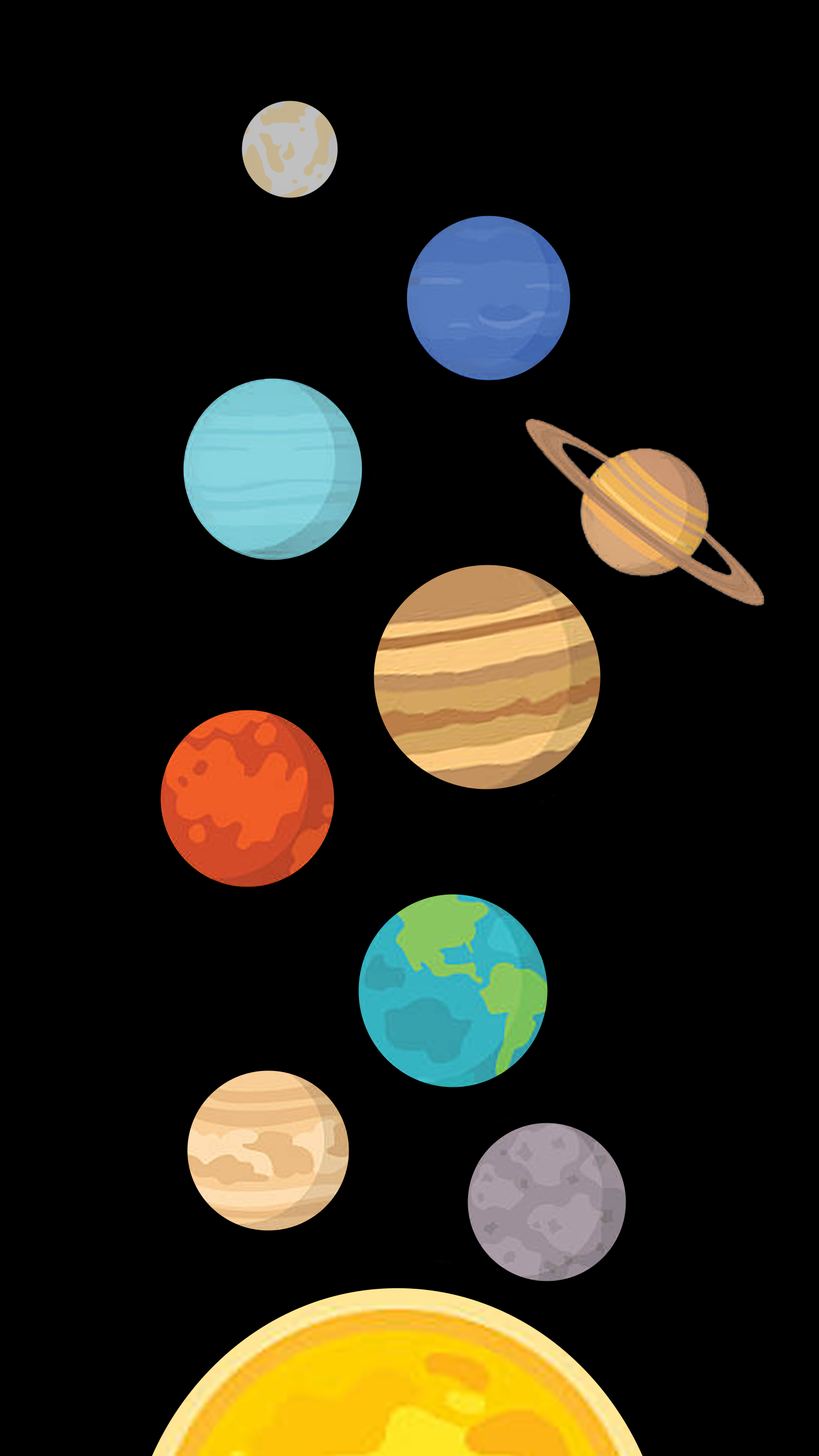 """""""The Solar System"""" 4k AMOLED Wallpaper Made By Yuval"""