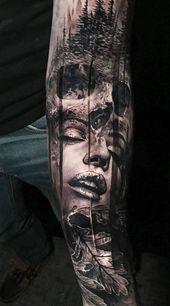 Photo of De magnifiques tatouages surréalistes à double exposition écrasent les gens, l'architecture et la nature …